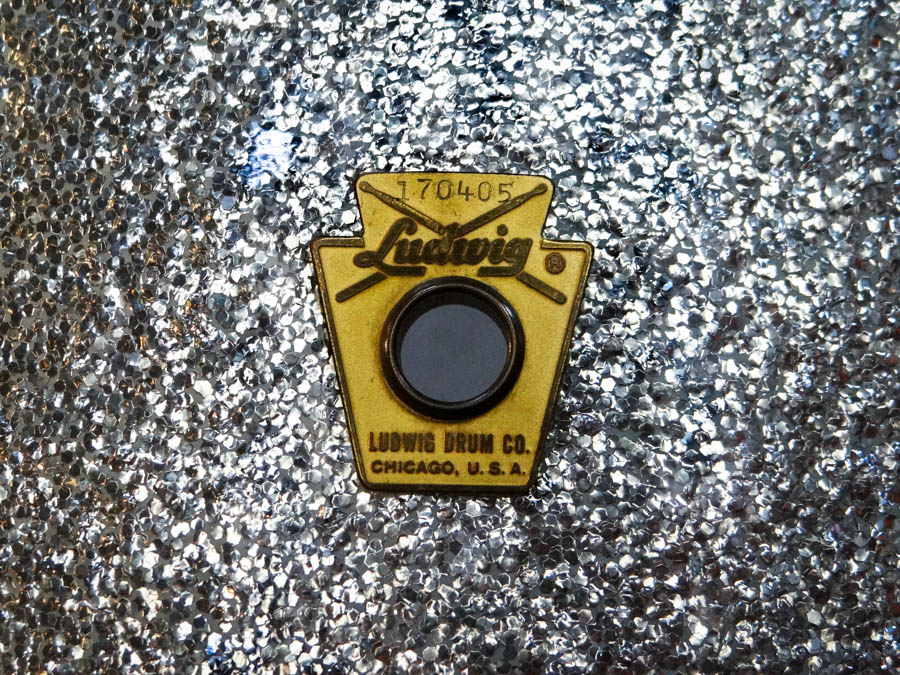 1962 Ludwig 3 piece kit original badge