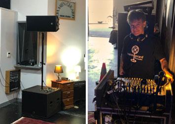 Luke Escombe - live - equipment