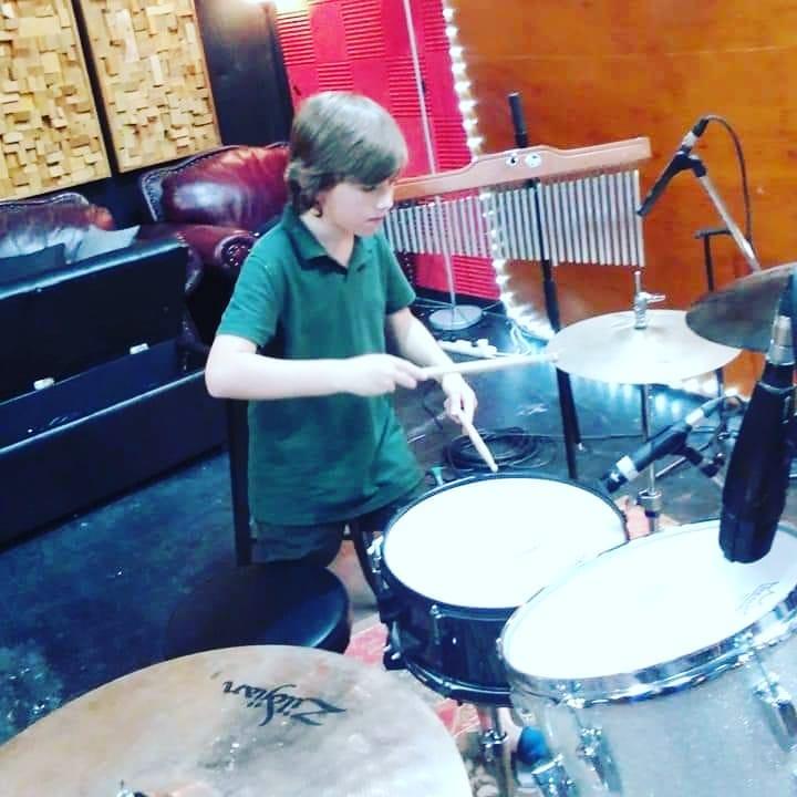 S.A.Tees drums at Damien Gerard Studios