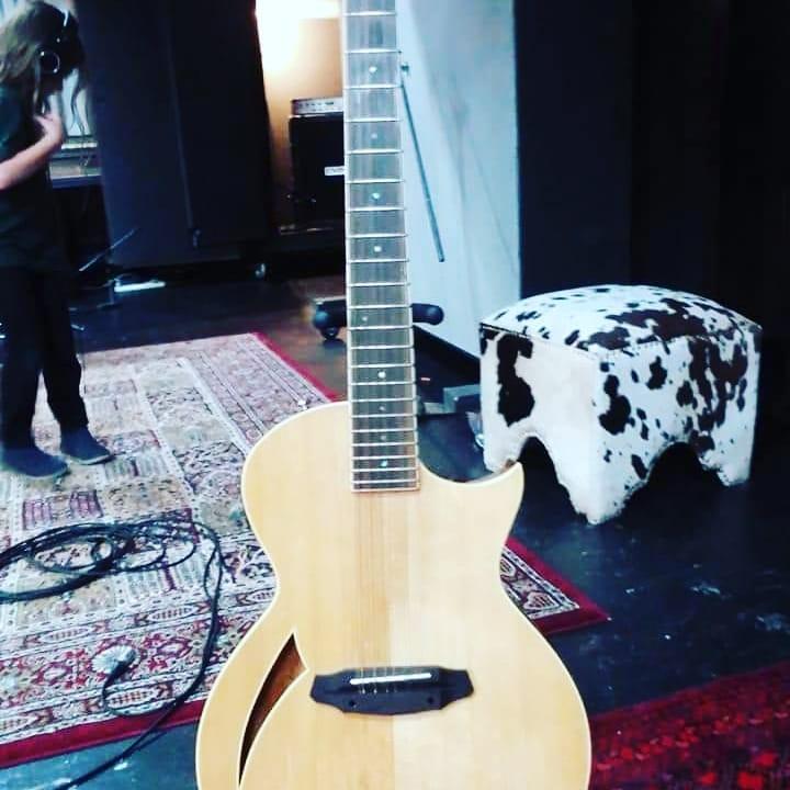S.A.Tees guitar at Damien Gerard Studios